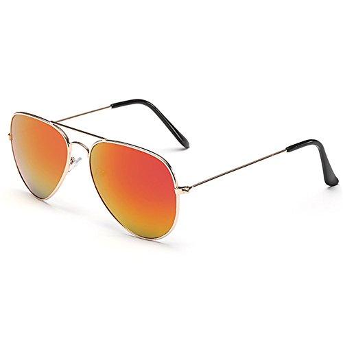 Z-P Unisex Classical Metal Frame Color Film Lens - Shape Round Should What Glasses Wear Face
