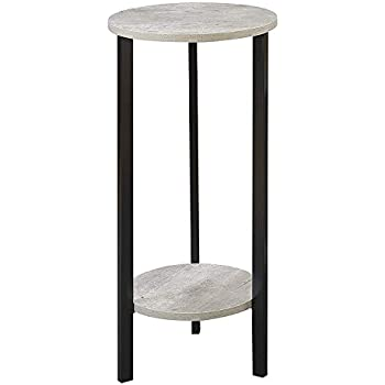 Convenience Concepts 111254C1WF Graystone Plant Stand Faux Birch//White 24