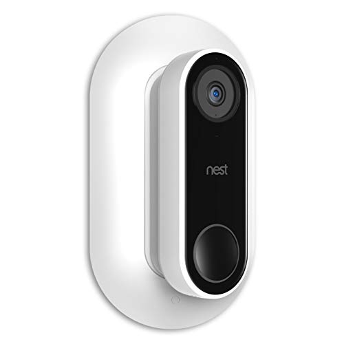 - Aobelieve Wall Plate with 35-Degree Wedge for Nest Hello Video Doorbell (White)