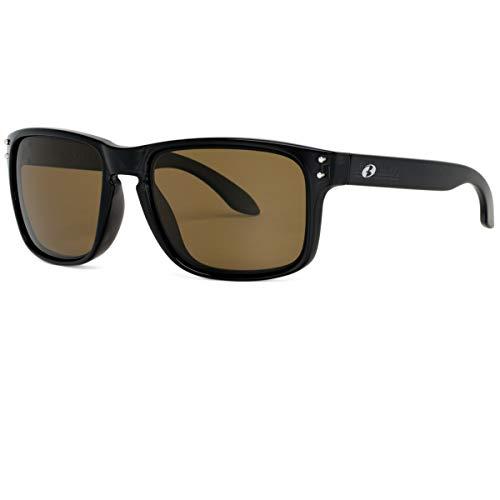 BNUS Italy made Corning Real Glass LensSunglasses For Men Women Cycling Glasses Polarized Baseball Running Fishing Driving Golf (Black/Polarized Brown B15, Polarized Size:56mm(M)) (Men Sunglasses Newest For)