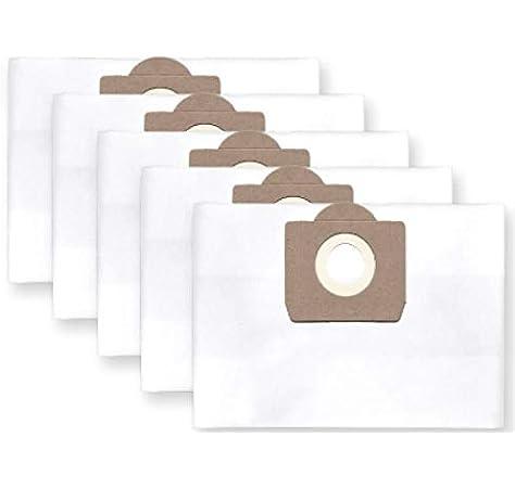 5x bolsas para aspirador tejido Bosch PAS 11-21; 12-27, Gas 20 L ...