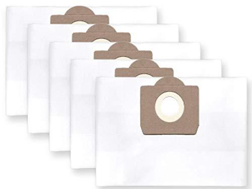 5x bolsas para aspirador tejido Bosch PAS 11-21; 12-27, Gas 20 L