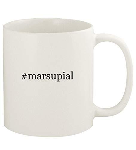 #marsupial - 11oz Hashtag Ceramic White Coffee Mug Cup, White