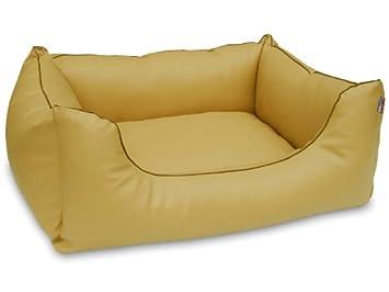 dogstyle cama para perros Perros Cojín World piel sintética 90 x 70 amarillo: Amazon.es: Productos para mascotas