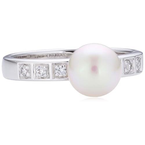 07103b9bdbe5 Majorica Tu Y Yo - Anillo de plata de ley con perla