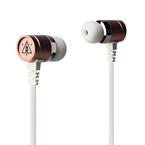 Ninety Plus B.Howard Celebrity Series, Hi-Res Earphone with Build in Microphone – Rose Gold, Compatible With All Mobile Device with 3.5mm Plug