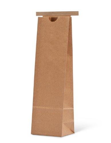 "Pacific Bag 100-426 Paper Tin-Tie Bag, 1 lb/ 500 g Narrow, Natural Kraft with Polypropylene Liner, 3-3/8"" Length x 2-1/2"" Gusset x 11-1/4"" Height (Case of 1000)"