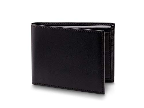 (Bosca Nappa Vitello Collection - Credit Wallet w/ID Passcase Black Leather)