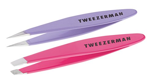 Tweezerman Mini Oval Slant and Point Combo (Petite Tweeze Point)