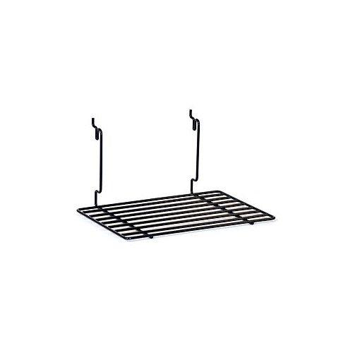 Box of 8 New Retails Black Flat Shelf 12''w X 8''d Fits Slatwall/grid/pegboard