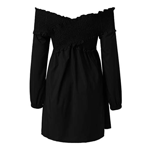 Swim Dress Women,Skirts for Girls 7-8,Skirts with Pockets,Skirts with Pockets for Women,Skirt Sports Happy Girl,Black,L by COTTONI-Dresses (Image #3)