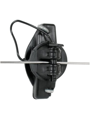 Gallagher G687044 25-Pack Wood Post Pinlock Electric Fence Insulator, Black by Gallagher