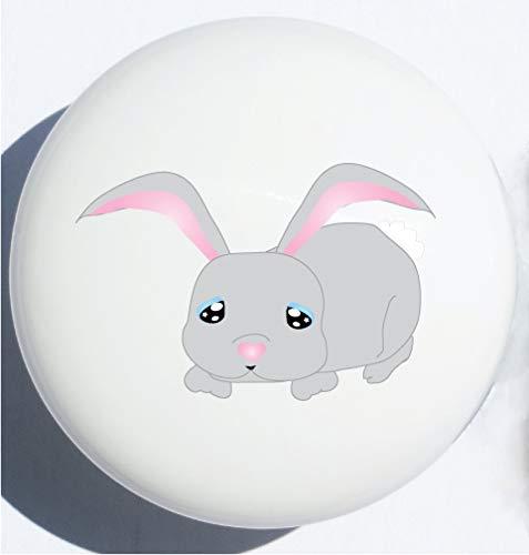 Single Bunny Rabbit Woodland Forest Animal Ceramic Drawer Knobs Pulls Children's Nursery Decor (Bunny Rabbit Drawer Knob)
