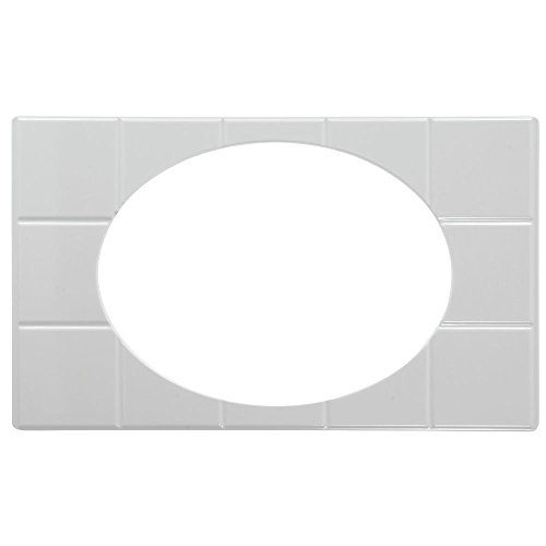 Cold Food Bar Tile Tray Full Size With Cut-Outs For Bowls White Melamine - 21'' L x 12 3/4 W by Hubert