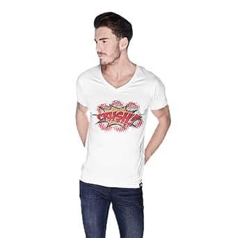Cero Crush Retro T-Shirt For Men - L, White