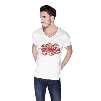 Cero Crush Retro T-Shirt For Men - M, White