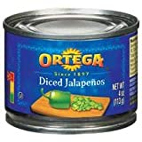 Ortega Diced Jalapeno Peppers - 26 oz. can, 12 cans per case