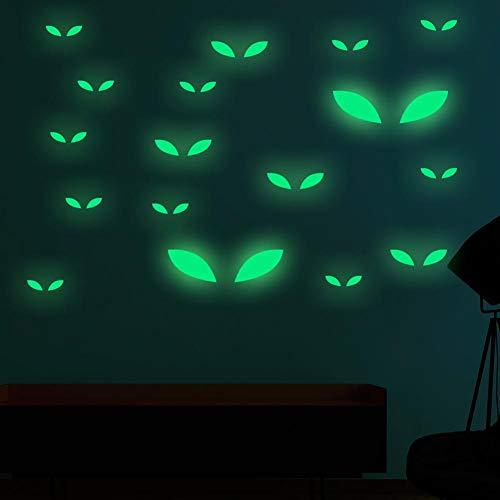 KINHOO Creative Voyeur Eyes Luminous Stickers, Halloween Holiday Party Decoration Fluorescent Stickers]()