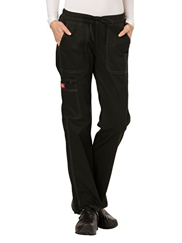 Dickies Gen Flex Women's Low Rise Straight Leg Scrub Pant Medium Black