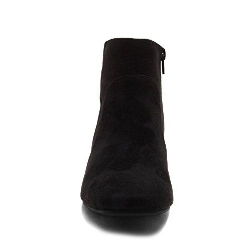Women's Wenona Boot Suede w Black Qupid 03 Faux Ankle Buckle pxwad0