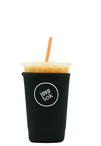 - JAVA SOK Reusable Iced Coffee Sleeve - Cup Insulator Sleeve for Cold Beverages and Neoprene Cup Holder   Ideal for Starbucks Coffee, McDonalds, Dunkin Donuts, More (22-24 oz Medium, Black)