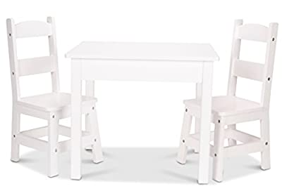 Melissa & Doug Table & Chair - Painted White Children's Furniture