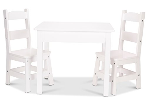 Melissa & Doug Table & Chair - Painted White Children's (Kids Sized Table And Chairs)