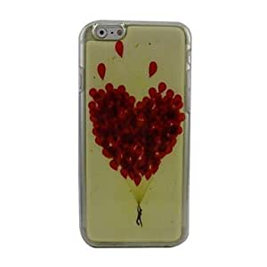 QJM Beautiful Balloon Plastic Hard Back Cover for iPhone 6