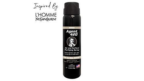 Agent 420 Air & Surface Purifying Spray - Erases Cigarette, Cigar & Most Foul Odors Breaks Down Smoke Odor at The Molecular Level - Eliminates Odors from Cars & Homes - 3.5 oz Spray [Speed] ()