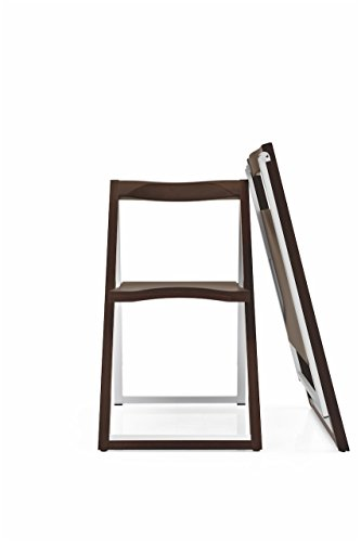 Connubia Skip Folding Chair Frame Plywood Wenge Beech Seat Calligaris Dining Chairs