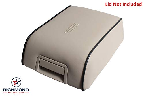 Console Parchment (Richmond Auto Upholstery Replacement Leather Center Console Lid Cover Tan Light Parchment with Black Piping (Compatible with 2006 Lincoln Mark LT) (Light Parchment Tan))