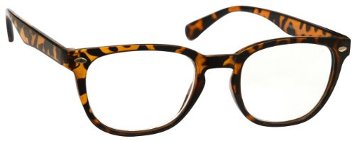Brown Tortoiseshell Near Short Sighted Distance Glasses For Myopia Gregory Peck Style Mens Womens M14-2T - Short Glasses Distance