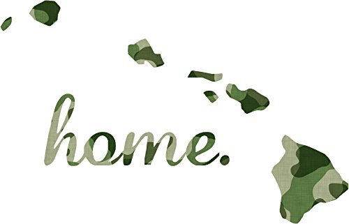 Hawaii #2 Home USA military camo print 3.9x5.6 inches america united states marine us coast guard navy seals air force pow mia color sticker state decal vinyl - Made and Shipped in USA