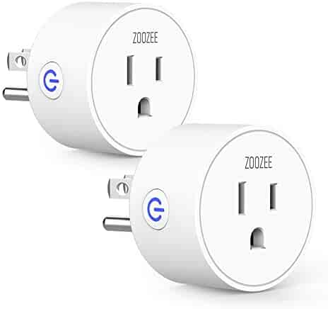 Smart Plug Wifi Outlet Compatible With Alexa, Echo, Google Home and IFTTT, ZOOZEE Mini Smart Socket with Timer Function, No Hub Required (2 PACK)