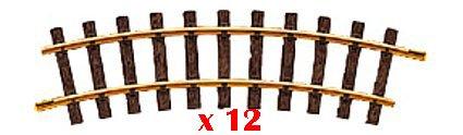 LGB 11000 Curved Track, R1, 30 Degree, 12 Piece Box