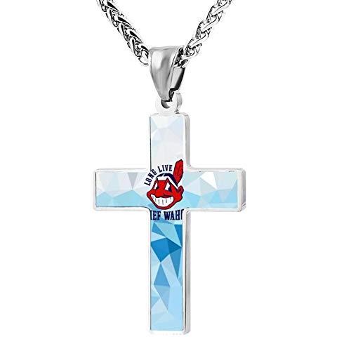 Long-Live-Chief-Wahoo Cross Necklace Customized Religious Jewelry Zinc Alloy Pendant Men Women