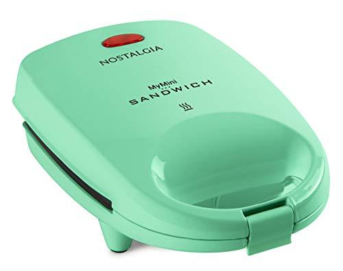 Nostalgia MSAND5MG MyMini Personal Sandwich Maker Pizza Pockets, Quesadillas, Breakfast, Paninis, Mini, Mint Green