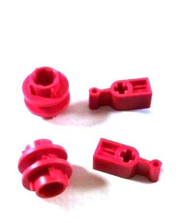 Anillo de conducción rojo Lego Technic 2L + Captura de cambio roja (cada sorte 2 piezas sueltas)