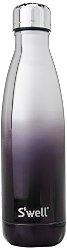 S'well Vacuum Insulated Stainless Steel Water Bottle, 17 oz, White Gold Ombre (Ombre Gold)