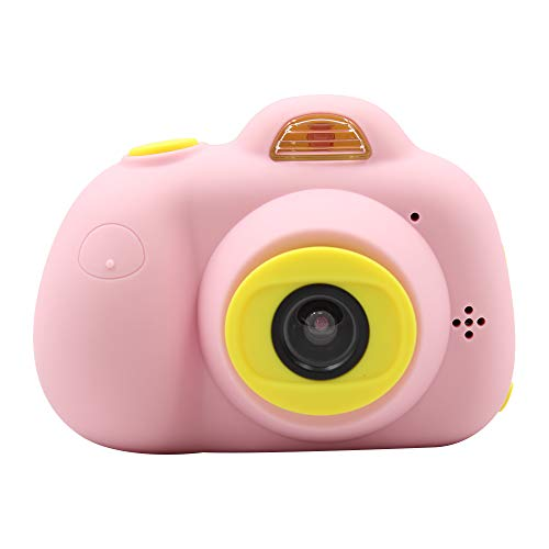 Mini Dual Digital Camera Gift for 3-10 Years Old Kids on Birthday, Best Rechargeable Shockproof Photography Toy, Girls&Boys-BabyΧldren, 32 GB Card, Pink/Blue Soft Silicone Shell, Instant Film&Photo
