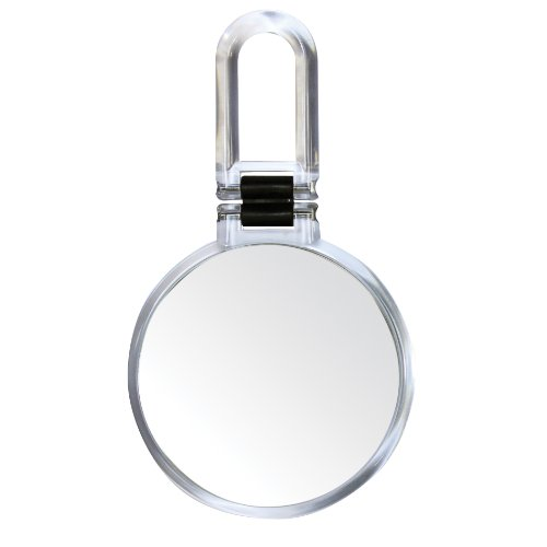 Clear Acrylic Mirror - Danielle Creations Clear Acrylic Round Folding Hand Held Mirror, 10x Magnification