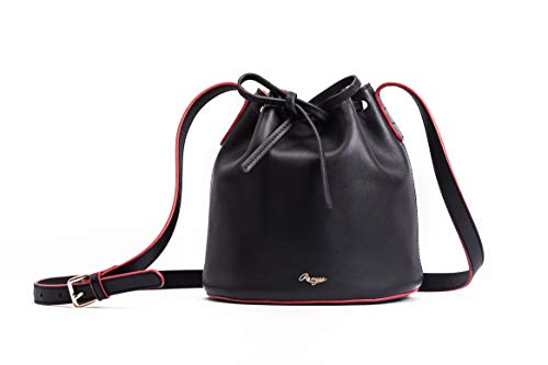 Unique Design Genuine Full Grain Leather Handbag Bucket Bag Drawstring Shoulder Bag Designer Handbag Cow Leather Romyse