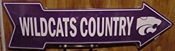 Kansas State University Wildcats Country Arrow Metal Sign