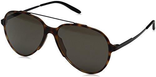 Carrera Ca118s Aviator Sunglasses, Havana Black/Brown Gray, 57 mm (Havana Carrera)