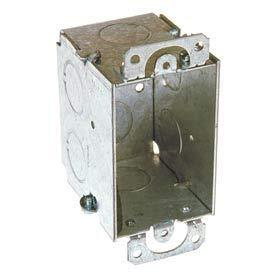 Hubbell 560 Switch Box 3''X2'', 2-3/4'' Deep, Gangable, 1/2'' End Knockouts, W/Plaster Ears - Pkg Qty 50 (560)