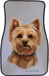 Puppy Cut Yorkshire Terrier Car Floor Mats - Carepeted All Weather Universal Fit for Cars & Trucks