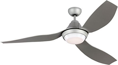 Monte Carlo Avvo Grey 56'' Indoor/Outdoor, Energy Efficient Ceiling Fan with LED Light, Remote Included (3AVOR56GRYD) by Lumtopia
