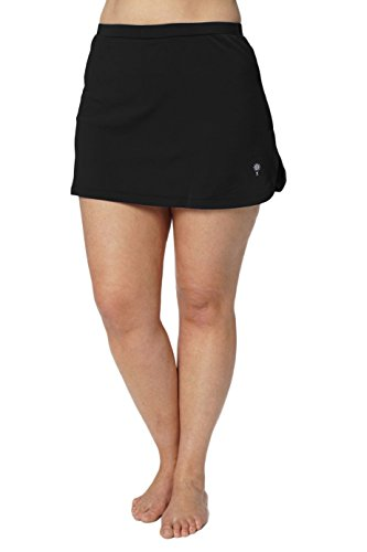 HydroChic-Womens-Plus-Size-Swimsuit-Skort–Modest-Skirtini-for-Tennis-Golf-and-Sports–Includes-Hidden-Shorts–Black-3X