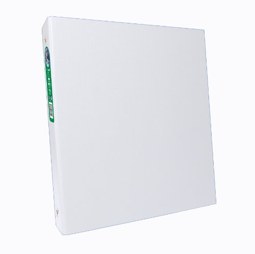 Aurora GB Elements Plus Binder, 1/2 Inch Round Ring, 8 1/2 x 11 Inch Size, White, Linen Embossed, Eco-Friendly, Recyclable, Made in USA (AUA09069)]()