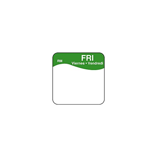 DayMark 1101115 ReMark Bilingual 1'' Friday Day Square - 1000 / RL by DayMark Safety Systems